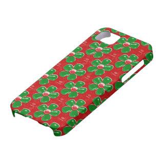 Coque Case-Mate iPhone 5 Vert mignon Girly et le rouge fleurit la caisse de