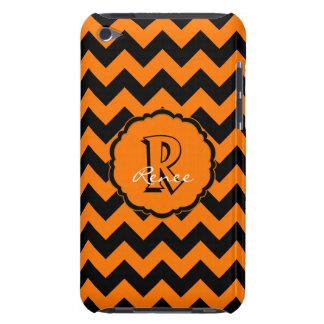 Coque Case-Mate iPod Touch Monogramme Chevron, contact Orange-Noir 4g de Sc