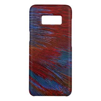 Coque Case-Mate Samsung Galaxy S8 Abrégé sur bleu et rouge plume