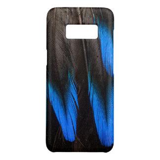 Coque Case-Mate Samsung Galaxy S8 Abrégé sur noir et bleu plume