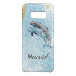 Coque Case-Mate Samsung Galaxy S8 Art sautant de dauphins de thème côtier