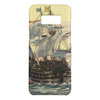 Coque Case-Mate Samsung Galaxy S8 Bateau de pirate vintage, navigation de galion sur