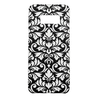 Coque Case-Mate Samsung Galaxy S8 Blanc de motif de damassé de Flourish grand sur le