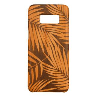 Coque Case-Mate Samsung Galaxy S8 Bois hawaïen de Koa de Faux de feuille de paumes