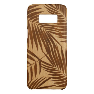 Coque Case-Mate Samsung Galaxy S8 Bois hawaïen d'érable de Faux de feuille de paumes