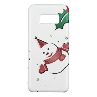 Coque Case-Mate Samsung Galaxy S8 bonhomme de neige sous le gui
