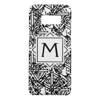 Coque Case-Mate Samsung Galaxy S8 Caisse noire et blanche de téléphone de Boho |