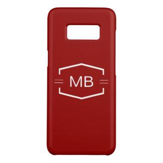 Coque Case-Mate Samsung Galaxy S8 Cas de Smartphone des hommes de monogramme
