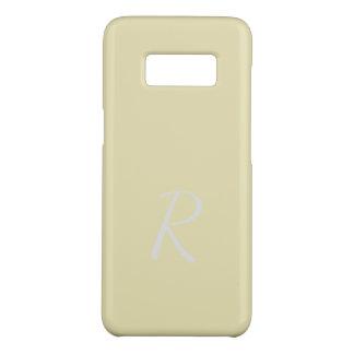 Coque Case-Mate Samsung Galaxy S8 Cas jaune pâle mou élégant décoré d'un monogramme