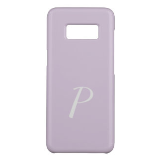 Coque Case-Mate Samsung Galaxy S8 Cas lilas rose mou élégant décoré d'un monogramme