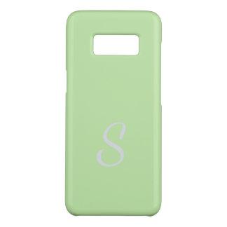 Coque Case-Mate Samsung Galaxy S8 Cas mou élégant décoré d'un monogramme de vert de