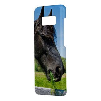 Coque Case-Mate Samsung Galaxy S8 cheval frison noir mangeant l'herbe