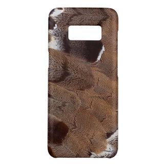 Coque Case-Mate Samsung Galaxy S8 Conception de plume de Brown