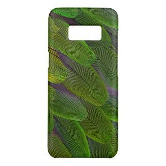 Coque Case-Mate Samsung Galaxy S8 Conception verte de plume de perroquet de caïque