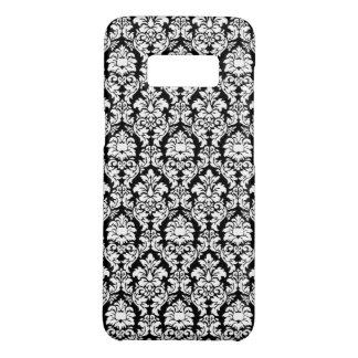 Coque Case-Mate Samsung Galaxy S8 Damassé noire et blanche