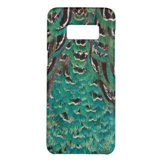 Coque Case-Mate Samsung Galaxy S8 Détail de plume de faisan de turquoise