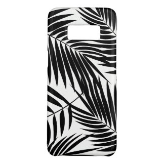 Coque Case-Mate Samsung Galaxy S8 Feuille noire hawaïenne de paumes de Kona