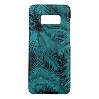 Coque Case-Mate Samsung Galaxy S8 Feuille tropical turquoise hawaïen de paumes de