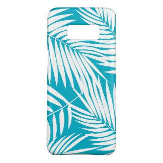Coque Case-Mate Samsung Galaxy S8 Feuille turquoise hawaïenne de paumes de Kona
