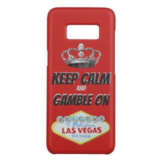 Coque Case-Mate Samsung Galaxy S8 Gardez la bonne chance calme de Las Vegas