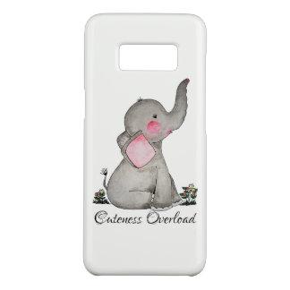 Coque Case-Mate Samsung Galaxy S8 L'éléphant mignon de bébé d'aquarelle avec