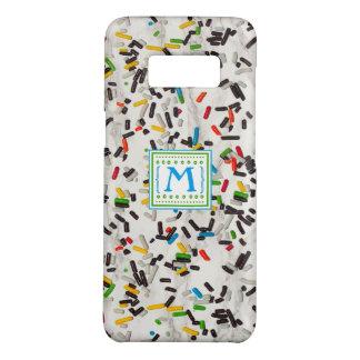 Coque Case-Mate Samsung Galaxy S8 Les confettis arrosent avec le monogramme
