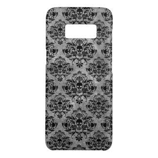 Coque Case-Mate Samsung Galaxy S8 Mini gris fascinant de noir de motif de damassé de