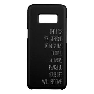 Coque Case-Mate Samsung Galaxy S8 Moins vous répondez au noir négatif de citation de