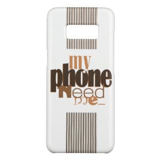 Coque Case-Mate Samsung Galaxy S8 Mon téléphone a besoin de moi ! En chocolat