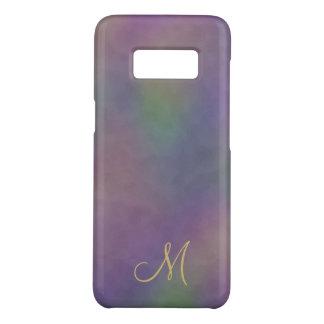 Coque Case-Mate Samsung Galaxy S8 Monogramme pourpre magenta d'or vert