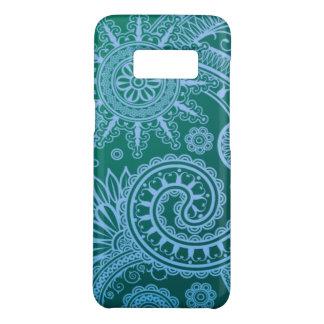 Coque Case-Mate Samsung Galaxy S8 Motif floral bleu abstrait