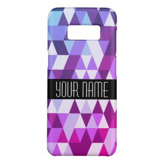 Coque Case-Mate Samsung Galaxy S8 Motif géométrique de triangle bleue pourpre