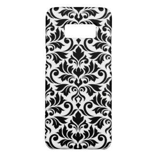Coque Case-Mate Samsung Galaxy S8 Noir de motif de damassé de Flourish grand sur le