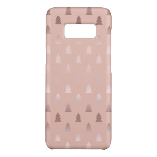 Coque Case-Mate Samsung Galaxy S8 Or rose élégant et motif rose d'arbre de Noël