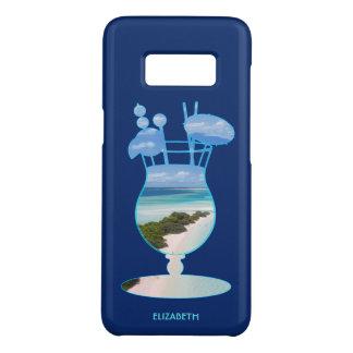 Coque Case-Mate Samsung Galaxy S8 Paumes et sable frais de plage d'océan d'îles