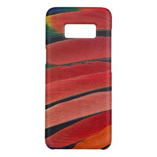 Coque Case-Mate Samsung Galaxy S8 Plumes rouges de perroquet d'Amazone