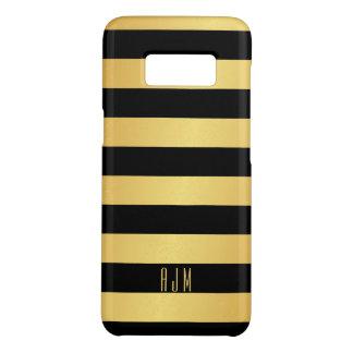Coque Case-Mate Samsung Galaxy S8 Rayures décorées d'un monogramme d'or au-dessus