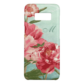 Coque Case-Mate Samsung Galaxy S8 Rétro fleur assez dans l'oiseau rose de la pivoine