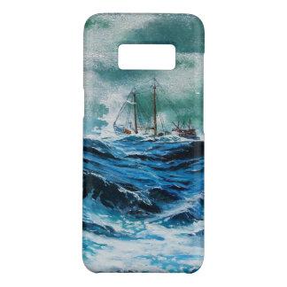 Coque Case-Mate Samsung Galaxy S8 Transportez-vous en mer dans la tempête/bleu