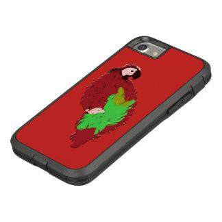 Coque Case-Mate Tough Extreme iPhone 7 Perroquet peint par rouge