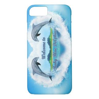 Coque de téléphone de dauphin de bleus layette