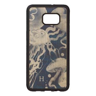 Coque En Bois Galaxy S6 Edg Méduses sur l'arrière - plan de marine