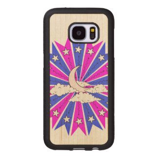 Coque En Bois Galaxy S7 Illustration de Dreamscape de nuit