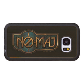 Coque En Bois Galaxy S7 NO--Commandant Badge d'or et de marbre