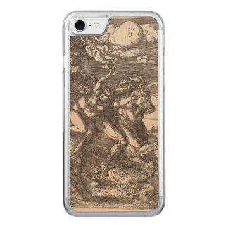 Coque En Bois iPhone 7 Abduction de Proserpine sur une licorne par Durer