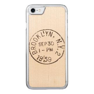 Coque En Bois iPhone 7 affranchissement à la mode de New York City de nyc