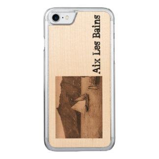 Coque En Bois iPhone 7 AIX-LES-BAINS - lac Bourget - bateau à voile