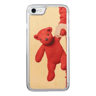 Coque En Bois iPhone 7 Amour d'ours de nounours