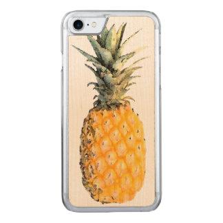 Coque En Bois iPhone 7 ananas