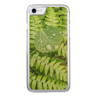 Coque En Bois iPhone 7 Baisses de feuille